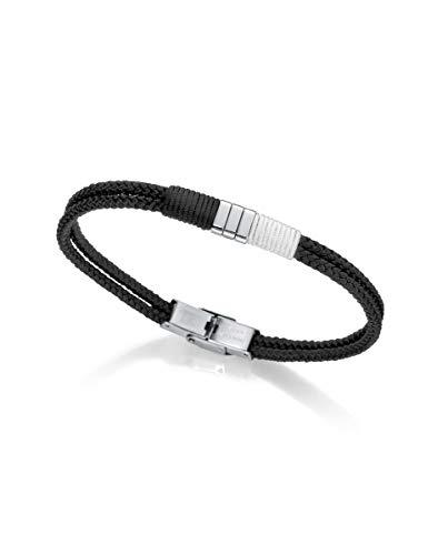 VICEROY FASHION - Pulsera Acero Doble Cordón Negro/Blanco para Hombre 6466p01010