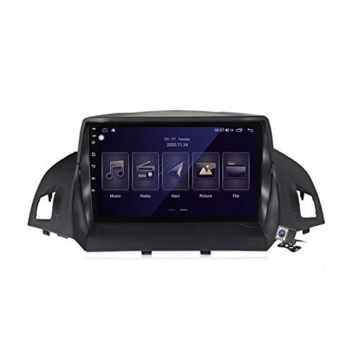 Gokiu Android 10 Autoradio 2 DIN con Schermo per Ford Kuga Escape 2013-2016 Supporta SWC WiFi 4G 5G Bluetooth/RDS FM AM Radio/GPS Navigazione/Built-in Carplay Android Auto DSP,M150