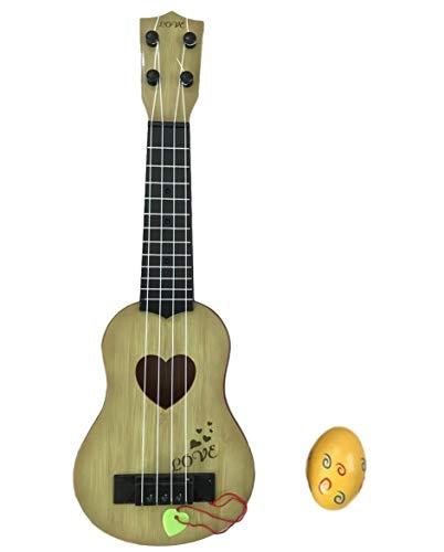 SWANBELLE おもちゃ ウクレレ 子供用 ミニギター 撮影小物 エッグシェイカー 4弦 (ベージュ, 44�p)