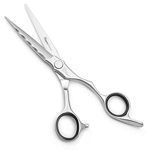 Professional Hair Scissors 6 Inch with Extremely Sharp Blades, VG10 Super Steel Hair Cutting Scissors, 3D Convex Edge, Super Durable, Smooth Motion & Fine Cut, Barber Scissors with Elegant Case…