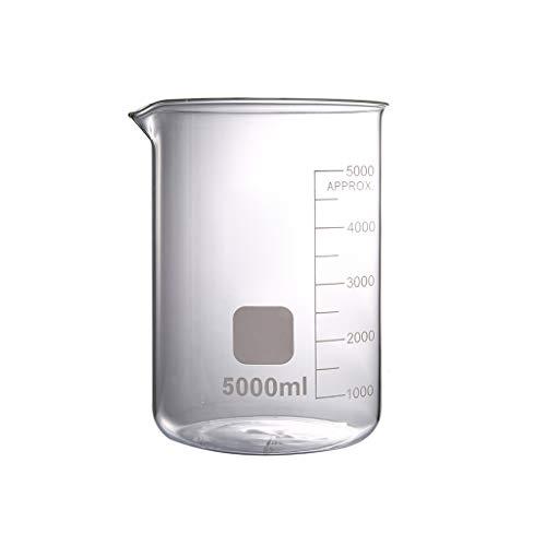 LBWT 5000ml Schule Lab Becherglas, Haushalt High Capacity verdicken Glasbecher, chemisches Experiment Ausrüstung, hohe Temperaturbeständigkeit