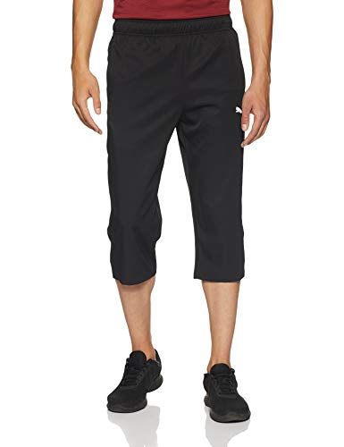 PUMA Herren Active Woven 3/4 Pants Hose, Black, L