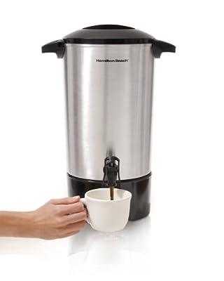 Hamilton Beach 40516R 45 Cup Coffee Urn, Easy Dispensing, Twist-Locking Lid, Brushed Aluminum
