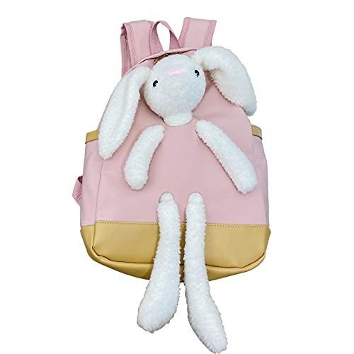 LLDG Kleinkind Baby Rucksack niedlich 3D Hase Bags Mädchen und Jungen Kinderrucksack Kindergarten Tagesrucksack mode Outdoor Backpack Kinder Wanderrucksack Schultasche für Mädchen Jungen