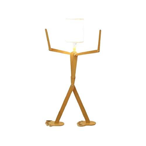 ACwhisper Lámpara de pie estilo nórdico salón creativo humanoide lámpara de pie habitación de los niños personalidad decoración dibujos animados escritorio dormitorio lámpara de pie