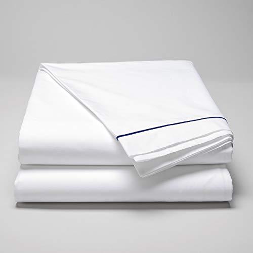Cotton & Co – Sábana de percal de algodón peinado de 160 hilos – 400 Tc Florence