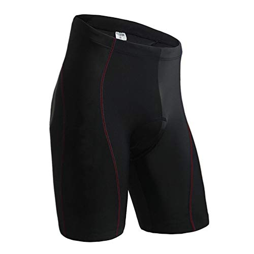 YUYAXPB Heren Fietsen Shorts met Gevoerde, Mode Mtb Ademende Snelle Droge Compressie Panty's, Zweetabsorberend en Ademend