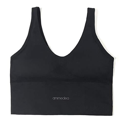 ZED- Sujetador Deportivo Mujer Push Up con Almohadillas Extraíbles,Bra Deporte sin Costuras para Yoga/Fitness/Run/Ejercicio