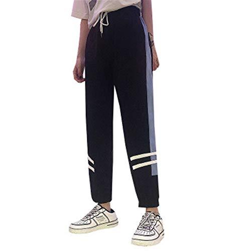 Pantalones deportivos para mujer Pantalones de chándal largos Cintura elástica holgada Pantalones casuales Pantalones de entrenamiento de cintura alta Pantalones de chándal Pantalones de trabajo para
