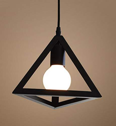 Retro Colgante Iluminación Lámparas de Techo Industrial Colgante de Luz, Vintage Industrial Triángulo Metal Pantalla de la Lámpara Para la Cocina, Dormitorio, Habitación, Salón, Exterior