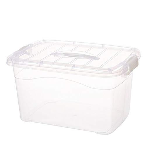 AQSG Boîte de Rangement en Plastique avec couvercles, Paquet de 5, Transparent, idéal pour la Maison