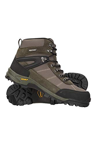 Mountain Warehouse Storm Mens Waterproof Boots – IsoGrip Shoes, Durable Rain Shoes, Mesh Lining Hiking Boots, Heel & Toe…