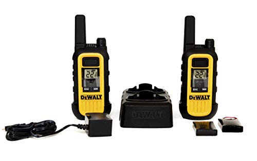 DEWALT DXFRS300 1W Walkie Talkies Heavy Duty Business Two-Way Radios (Pair)