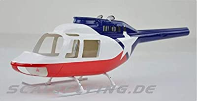 RC Helicopter B206 450 Pre-Painted fuselage for 450 Size Helicopters.Suitable for Almost All 450 Size(325mm Rotor Blade) Helicopters, Such as: Align T-REX450X/XL/SE/SE V2 from Flight Model