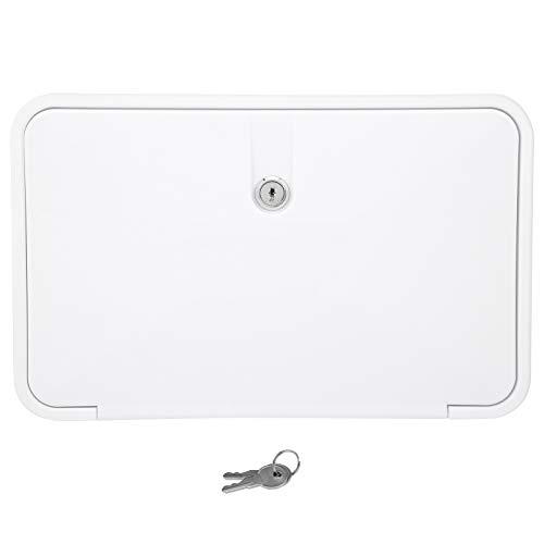 VGEBY Caja de Ducha Exterior, Kit de Caja de Grifo de Ducha Exterior Caja de Ducha de Mano con Accesorio de Bloqueo de Manguera(Blanco)