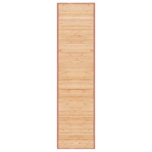 vidaXL Teppich Bambus 80x300cm Wohnzimmer Läufer Bambusmatte Bambusteppich