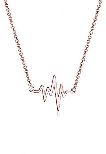 Elli Halskette Damen Herzschlag Liebe in 925 Sterling Silber