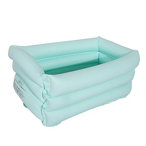 Opblaasbaar zwembad 65 * 35 * 30cm Portable Inflatable baby PVC Badkuip Folding kinderen zitten Lie wastrommel Basin Travel Bad ZHQHYQHHX (Color : Light blue, Size : 1)