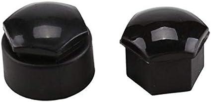 20pcs Bolzenabdeckungen Durable For Audi Staubdicht Anti Diebstahl Nut Cap Radnaben Auto Color Black Auto