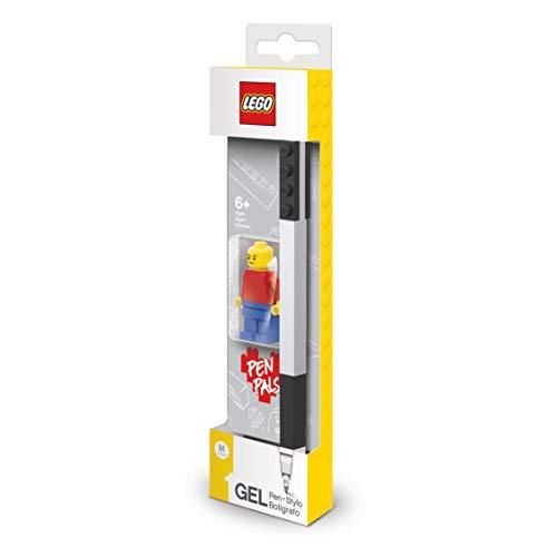 Lego - Bolígrafo de Gel Negro con Mini Figura
