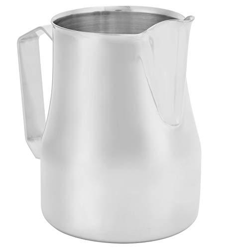 calentador leche jarra cafetera jarra cafetera universal Jarra de café con boca puntiaguda de acero inoxidable, jarra para hacer espuma, jarra para café con leche, capuchino, leche para Barista(small)