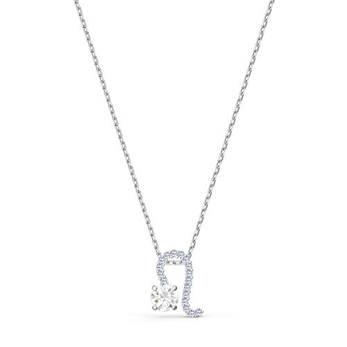 Swarovski Women's Zodiac Leo Pendant Necklace, Finely Cut Stones in White with a Mixed Metal Finished Chain and a Shimmering T-bar Coin Closure