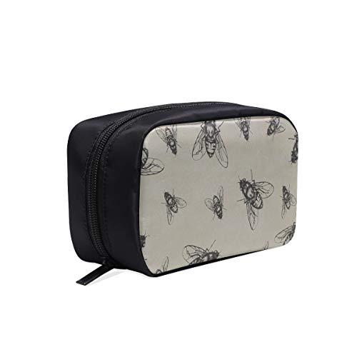 Sac cosmétique de bande dessinée été sac créatif de vol voyage insecte voyage pour les hommes dent sac de maquillage sac de mode à la mode sac de cosmétiques sacs multifonctions maquillage sac de maq