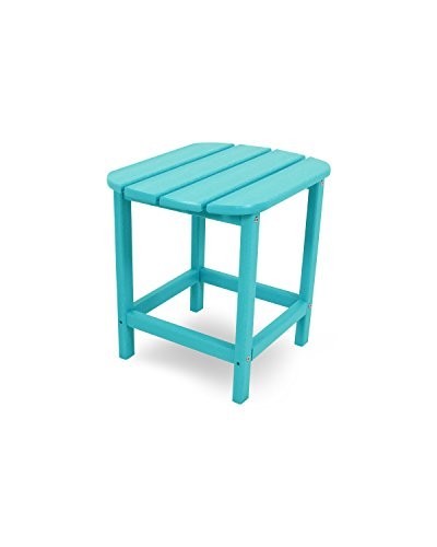 POLYWOOD SBT18AR South Beach 18' Outdoor Side Table, Aruba