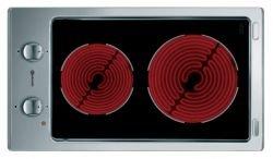 Bauknecht ETK 5240 Integriertes Keramikschild Schwarz, Edelstahl - Platte (integriert, Keramik, Glas und Keramik, Schwarz, Edelstahl, 14,5 cm, 18 cm)