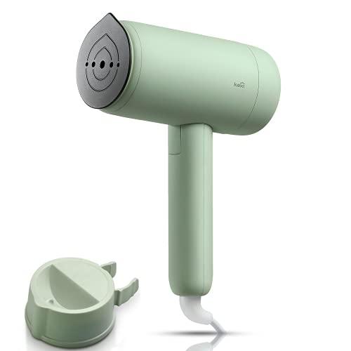 Kexi H2 Dampfglätter, 1200 W Garment Steamer Dampfglätter, faltbare Dampfbürste mit Geschenkkarton, horizontales & vertikales Reisebügeleisen Dampf mini, für Haushalt & Urlaub (Grün)