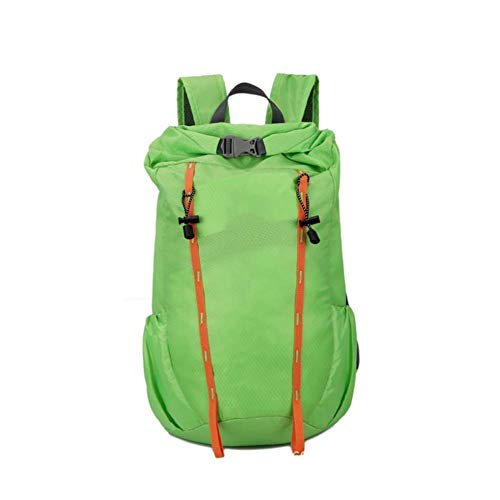 WLP-WF Backpack Hiking Camping Mountaineering Rucksack Outdoor Men Women Military Waterproof Luggage Bag Lightweight,Gray,30L,Green