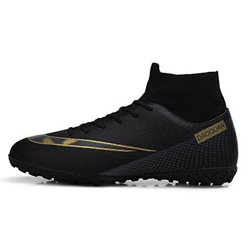 Zapatos de fútbol de tobillo alto al aire libre antideslizante a G/T F botas de fútbol de gran tamaño ultraligero tacos de fútbol zapatillas de deporte de fútbol hombres