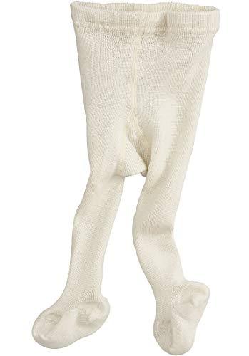 hessnatur Baby Mädchen und Jungen unisex Woll-Strumpfhose aus reiner Bio-Merinowolle natur 50/56