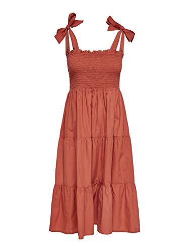 Only Onlmaggie Strap Dress Wvn Vestido, Hot Sauce, 42 para M