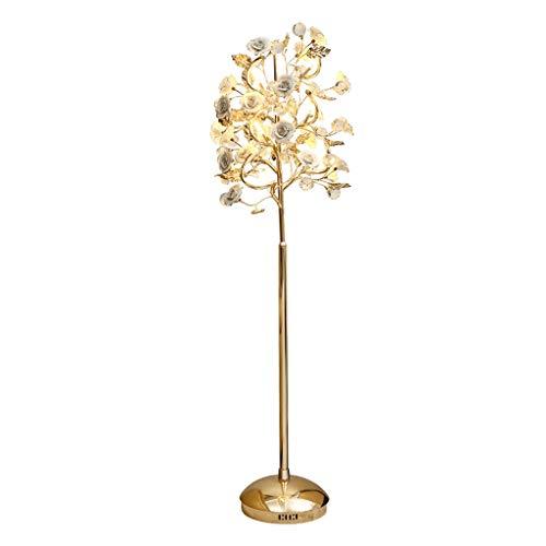 Lampes de chevet Lampadaire Moderne en Céramique Chambre Restaurant Cristal Vertical Lampe Simple Moderne Fleur Lampadaire De Chevet (Color : Pink, Size : 50 * 142cm)