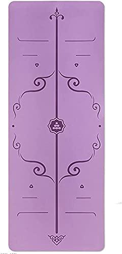 NZKW Esterillas de Yoga Mate para Yoga de 5 mm, Alfombrilla de Goma Antideslizante Multiusos para Ejercicios, Alfombrilla de práctica para el Suelo de Pilates, Esterilla para Gimnasio (