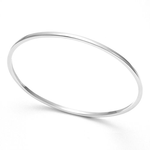 Heather Needham Sterling Silver Solid Bangle - square section Bangle - size: 2.3mm x 72mm (68mm internal measaurement). Gift Boxed END OF LINE LOWER PRICE 3038
