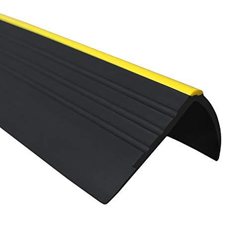 Antirutsch Treppenkantenprofil Selbstklebend PVC Profil für Treppenstufen, Warnung vor Treppen, 150cm