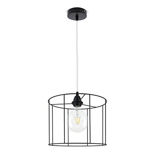 CD Cables-Lampada ophanging lampenkap cilinder draad zwart, kabel wit 1 meter