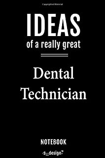 Notebook for Dental Technicians / Dental Technician: awesome handy Note Book [120 blank lined ruled pages]