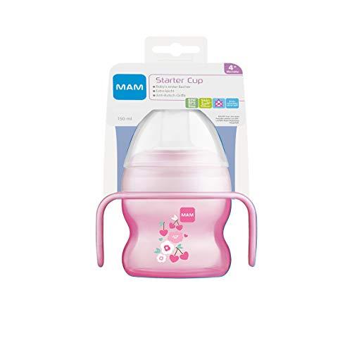 MAM Starter Cup Baby - Vaso para aprender a beber (150 ml), diseño de cerezo y flores