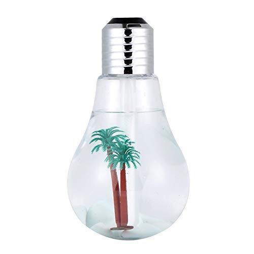 Humidificadores 400ml humidificador ultrasónico, Noche de luz LED humidificador, Aire esencial difusor de aceites, de apagado automático sin agua, humidificador portátil Humidificador ultrasónico