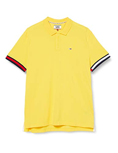 Tommy Hilfiger TJM Sleeve Polo Camisa, Amarillo (Star Fruit Yellow), XX-Large para Hombre