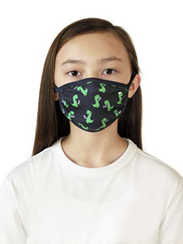TOM TAILOR Unisex Kinder Muster Stoffmaske, Black Iris Blue, Einheitsgröße