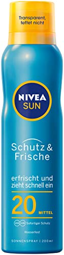 Nivea Sun Schutz & Frische LSF 20 Transparentes Sonnenspray, 1er Pack (1 x 200 ml)