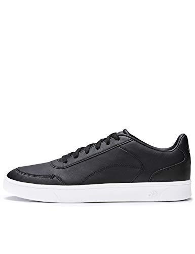 CARE OF by PUMA knöchelfreie Sneaker für Herren aus Leder, Schwarz, 44 EU