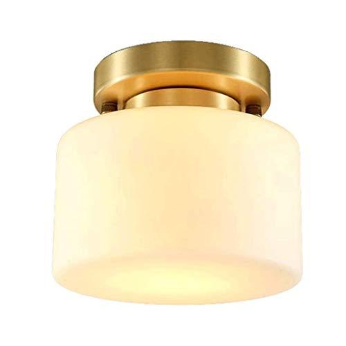YWSZJ Toda la luz de Techo de Cobre Estadounidense, Metal + Pantalla de Cristal Pasillo Balcón Guardarropa Moderna Minimalista Accesorio de iluminación
