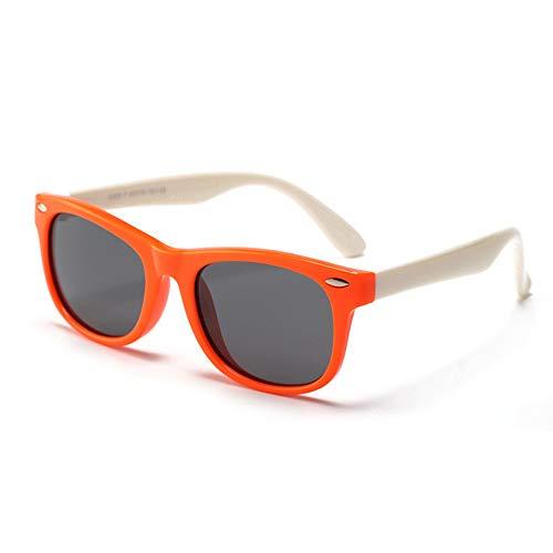 Peuter Zonnebril Rubber UV400 Flexibele Kinderen Gepolariseerde Zonnebril voor Meisjes Jongens Leeftijd 3-10 (C8)