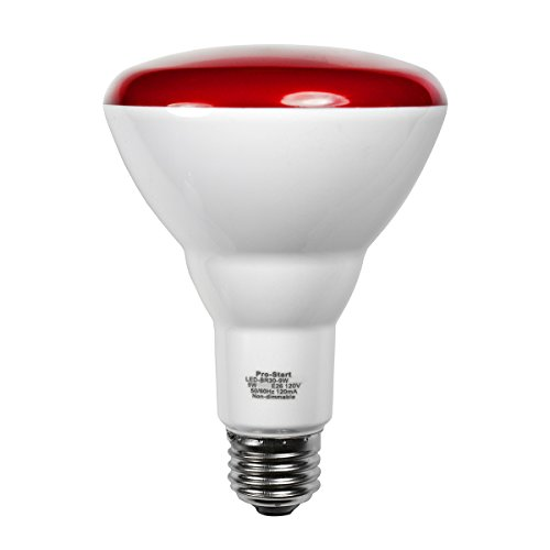 LED-BR30-9W RED - Volts: 120V, Watts: 9W, Type: LED BR30