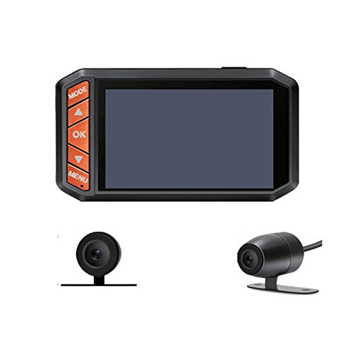 Cimoto 1080P HD Motocicleta DVR 2.7 Pulgadas LCD CáMara Dual Moto Dash CAM Video DV123